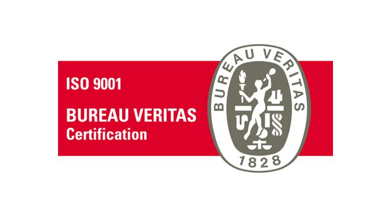 Certification ISO 9001 Bureau Veritas